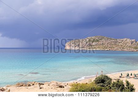 Light Blue Sea - Dark Blue Sky