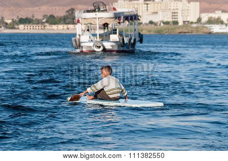 Boy On Nile Aswan