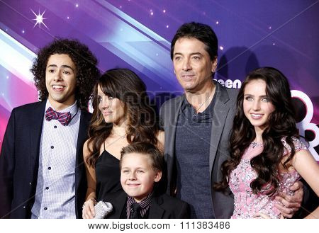 Ramy Youssef, Alanna Ubach, Scott Baio, Ryan Newman and Jackson Brundage at the 2012 TeenNick HALO Awards held at the Hollywood Palladium in Los Angeles, United States on November 17, 2012.