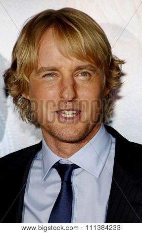 Owen Wilson at the Los Angeles Premiere of