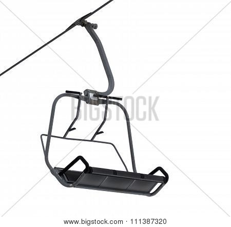 Chair-lift Isolated On White