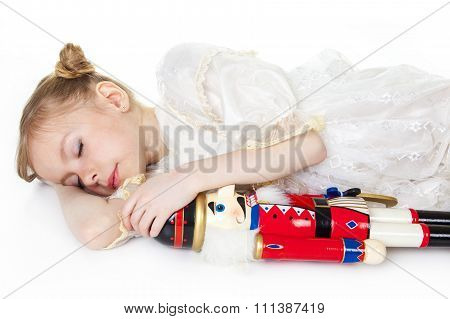 Ballerina who holding a nutcracker