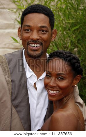 WESTWOOD, CALIFORNIA - Monday June 7, 2010. Will Smith and Jada Pinkett Smith at the Los Angeles premiere of