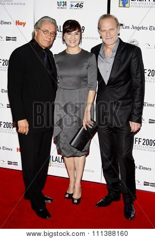 11/10/2009 - Edward James Olmos, Llu���s Homar, and Blanca Portillo at the  Gabi Lifetime Achievement Award Gala held at the Grauman's Chinese Theater in Hollywood, California, United States.