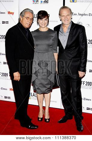 Edward James Olmos, Llu���s Homar, and Blanca Portillo at the Gabi Lifetime Achievement Award Gala held at the Grauman's Chinese Theater in Hollywood, California, United States on October 11, 2009.