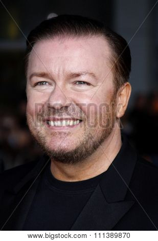 21/09/2009 - Hollywood - Ricky Gervais at the Los Angeles Premiere of