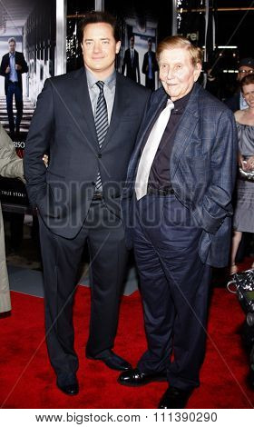 19/1/2010 - Hollywood - Brendan Fraser and Sumner Redstone at the Los Angeles Premiere of