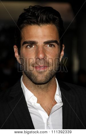 LOS ANGELES, USA - SEPTEMBER 19: Zachary Quinto at the Los Angeles Premiere of