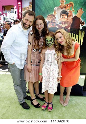 Leslie Mann and Judd Apatow at the Los Angeles premiere of
