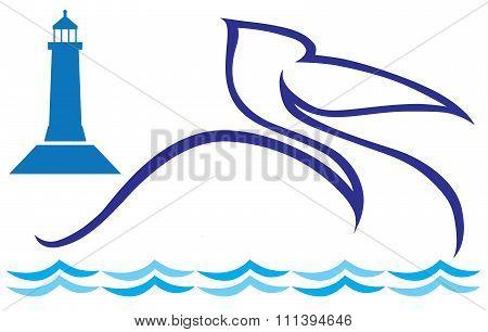 Stylized Pelican