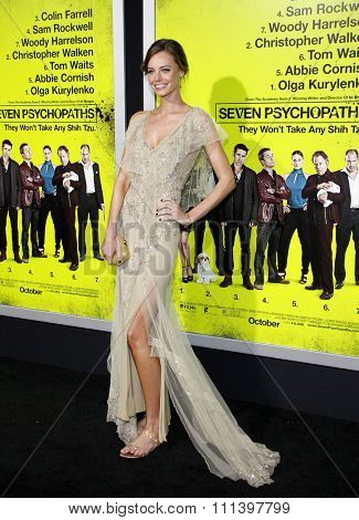 Christine Marzano at the Los Angeles premiere of