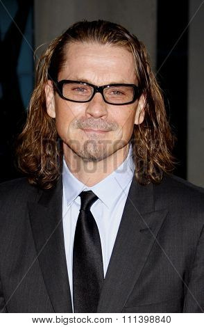 HOLLYWOOD, CALIFORNIA - Tuesday August 30, 2011. Kurt Sutter at the Season 4 premiere of FX Network's