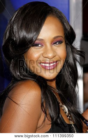 Bobbi Kristina Brown at the Los Angeles premiere of