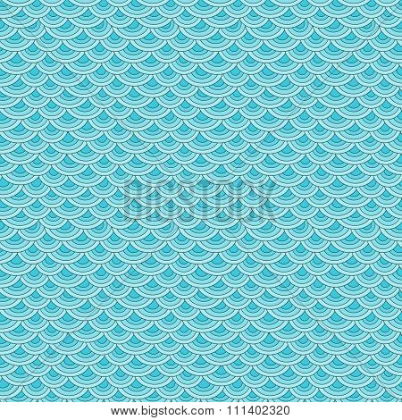 Marine fish scales simple seamless pattern