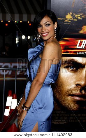 WESTWOOD, CALIFORNIA - Tuesday October 26, 2010. Rosario Dawson at the Los Angeles premiere of