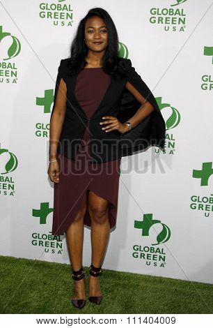Tatyana Ali at the Global Green USA's 12th Annual Pre-Oscar Party held at the Avalon in Los Angeles on Wednesday February 18, 2015.
