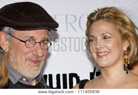 Steven Spielberg and Drew Barrymore at the Los Angeles Premiere of
