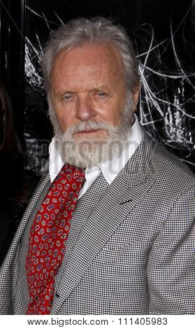 09/02/2010 - Hollywood - Anthony Hopkins at the American Premiere of