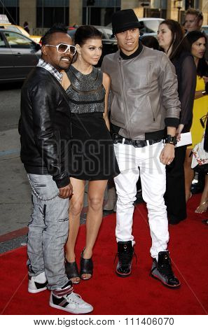 Black Eyed Peas at the Los Angeles Premiere of