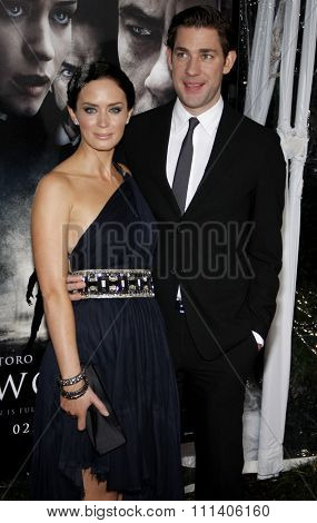 Emily Blunt and John Krasinski at the American Premiere of