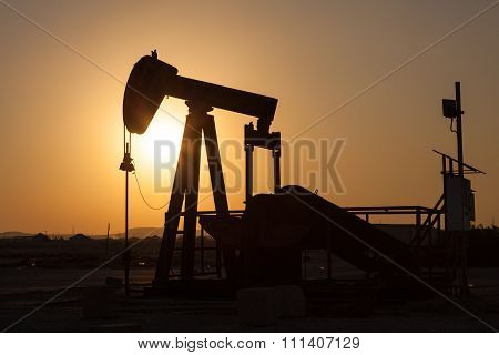 Oil Pump. Oil Industry Equipment.