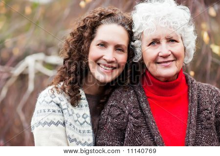 Grandmother With Her Daughter