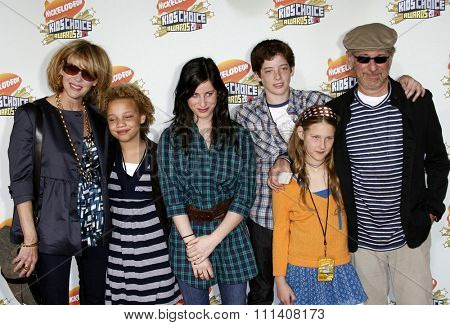 Steven Spielberg and family attend the Nickelodeon's 20th Annual Kids' Choice Awards held at the Pauley Pavilion - UCLA in Westwood, California on March 31, 2007.