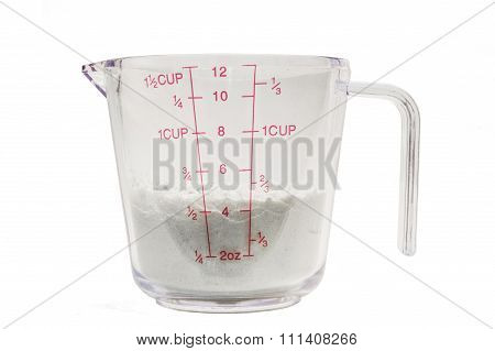 Measuring Cup with flour 1/2