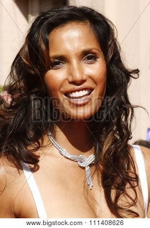 Padma Lakshmi attends the 59th Annual Primetime Emmy Awards held at the Shrine Auditorium in Los Angeles, California, United States on September 16, 2007.