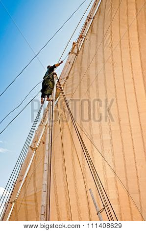 Adjusting The Sails, On The Nile