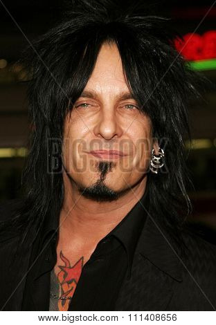 Nikki Sixx attends the Los Angeles Premiere of