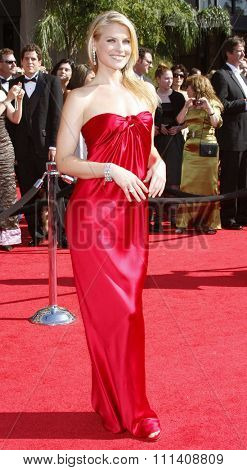 Ali Larter attends the 59th Annual Primetime Emmy Awards held at the Shrine Auditorium in Los Angeles, California, United States on September 16, 2007.