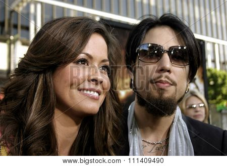 Dave Navarro and Brooke Burke attend the Los Angeles Premiere of