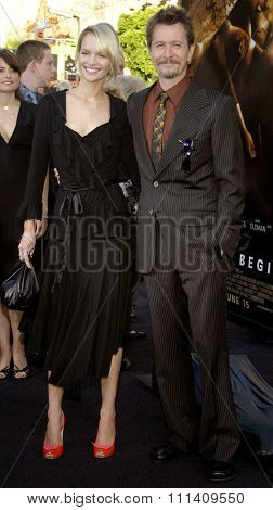 Gary Oldman and Alisa Marshall attend the Los Angeles Premiere of