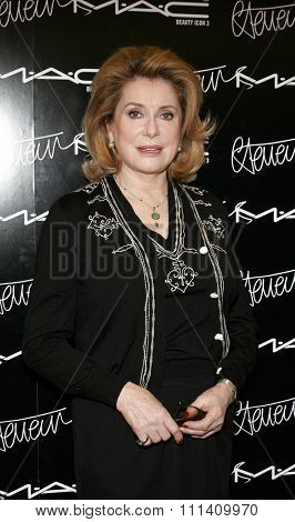 Catherine Deneuve. M A C pays homage to the French actress by naming her third M A C beauty icon and launching a limited edition colour collection in Beverly Hills, California on January 13, 2006.