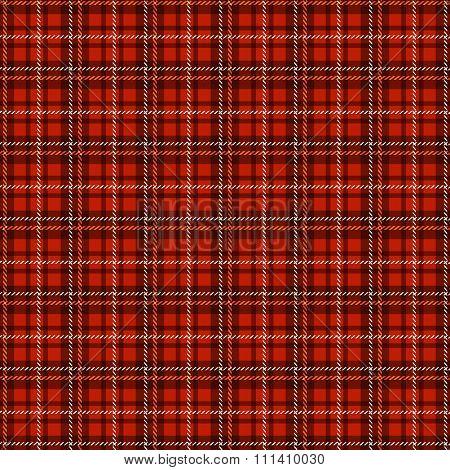 Seamless Tartan Pattern. Vector Checkered Background.