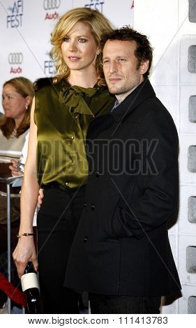 Jenna Elfman and Bodhi Elfman attend the AFI Fest Opening Night Gala Premiere of