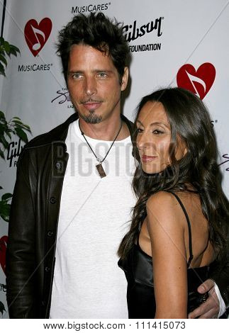 HOLLYWOOD, CALIFORNIA. Friday May 11, 2007. Chris Cornell and Vicky attend the 3rd Annual MusiCares Map Fund Benefit Concert held at the Henry Fonda Music Box Theater in Hollywood, United States.