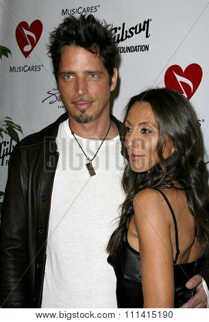 Chris Cornell and Vicky attend the 3rd Annual MusiCares Map Fund Benefit Concert held at the Henry Fonda Music Box Theater in Hollywood, CA on 05/11/07.
