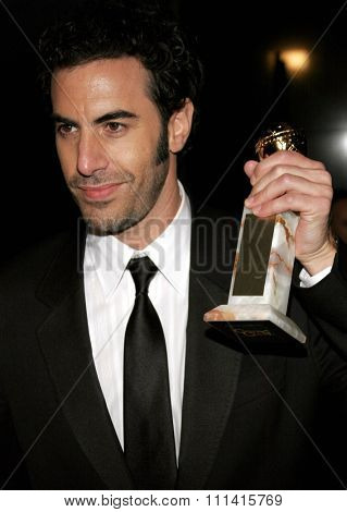 Sacha Baron Cohen attends the 2007 Paramount Pictures Golden Globe Award After-Party held at the Beverly Hilton Hotel in Beverly Hills, California, on January 15, 2007.