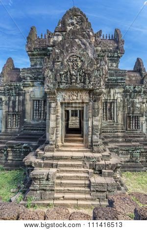 Entrance to the ancient buddhists temple in Cambodia