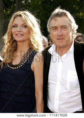 Michelle Pfeiffer and Robert De Niro attend the Los Angeles Premiere of