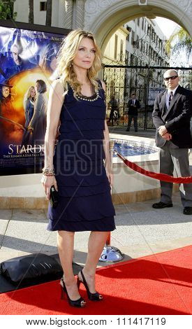 Michelle Pfeiffer attends the Los Angeles Premiere of