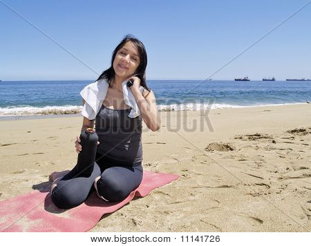 Woman Resting After Physical Exercise