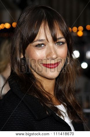 Rashida Jones attends the Los Angeles Premiere of