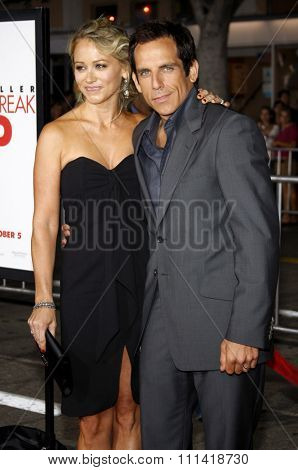 Ben Stiller and Christine Taylor attend the Los Angeles Premiere of