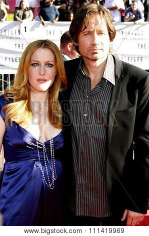 Gillian Anderson and David Duchovny at the World Premiere of