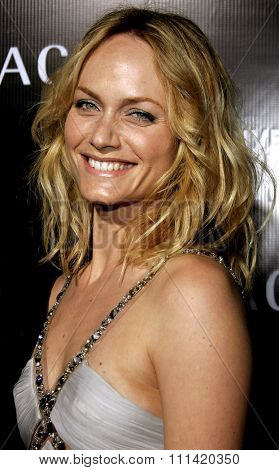 Amber Valletta attends the Rodeo Drive Walk Of Style Award honoring Gianni and Donatella Versace held at the Beverly Hills City Hall in Beverly Hills, California on February 8, 2007.