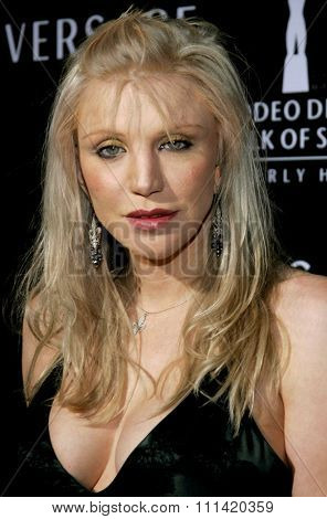 Courtney Love attends the Rodeo Drive Walk Of Style Award honoring Gianni and Donatella Versace held at the Beverly Hills City Hall in Beverly Hills, California on February 8, 2007.