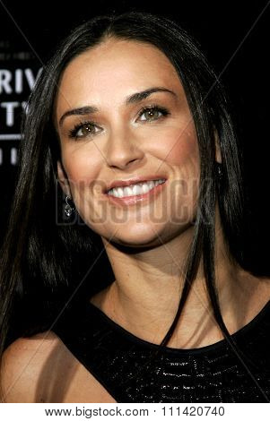 Demi Moore attends the Rodeo Drive Walk Of Style Award honoring Gianni and Donatella Versace held at the Beverly Hills City Hall in Beverly Hills, California on February 8, 2007.